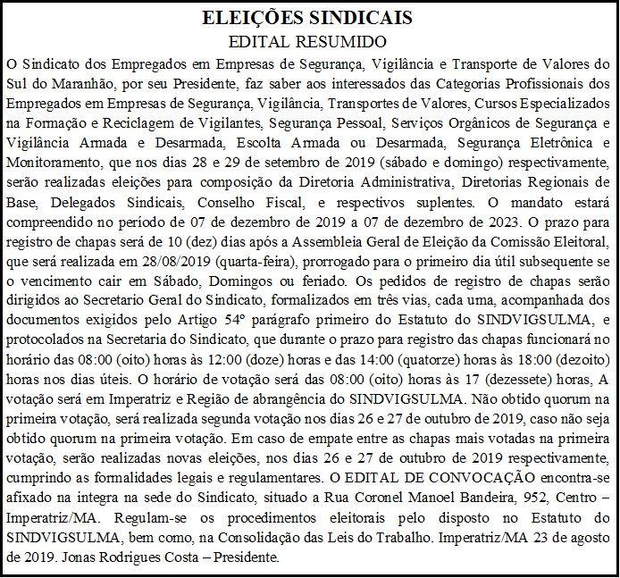 Eleição Sindical 2019